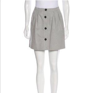 BALENCIAGA woven up button skirt